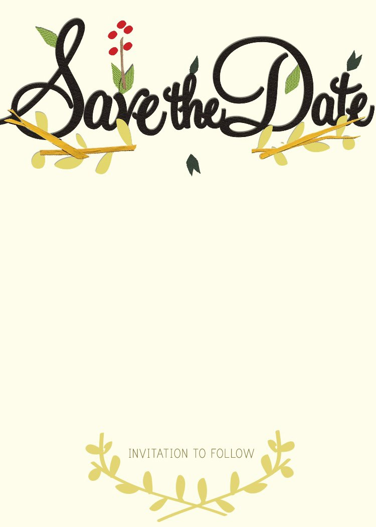 The Date Party Templates – Free Wedding Save the Date Templates