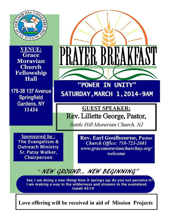 Save The Date Prayer Breakfast