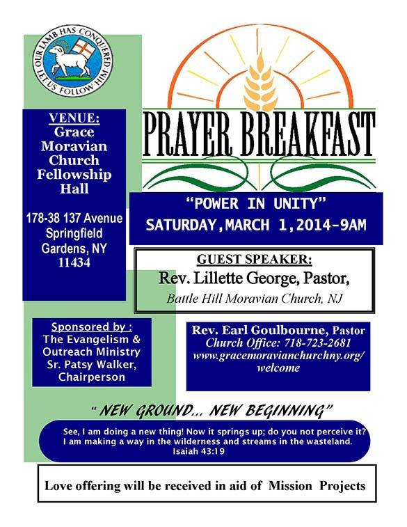 Save The Date Prayer Breakfast