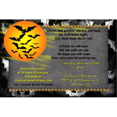 Scary Halloween Party Invitations