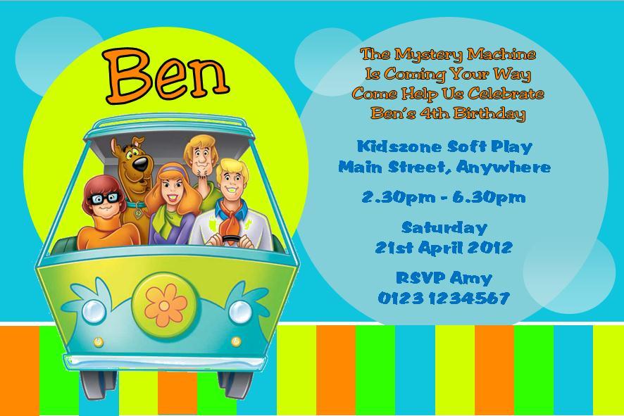 Scooby Doo Birthday Invitations Printable Free