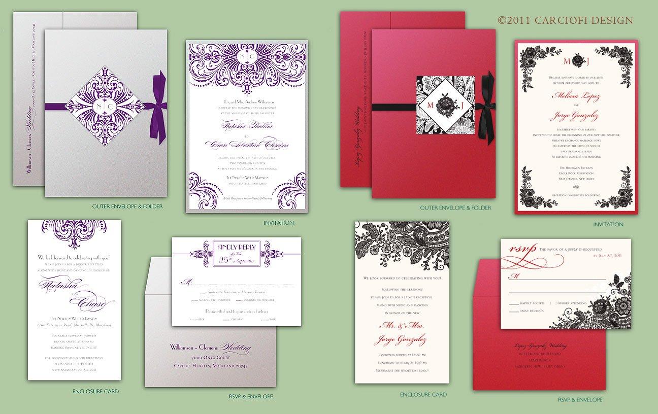 Self Print Wedding Invitation Kits