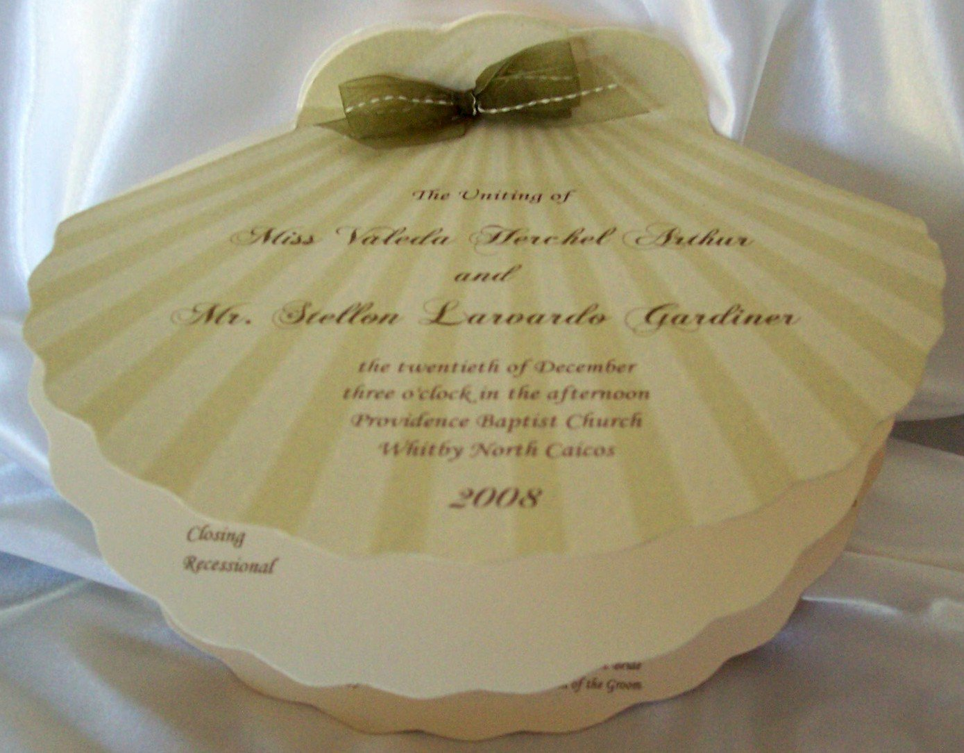 Shell Shaped Invitation Card