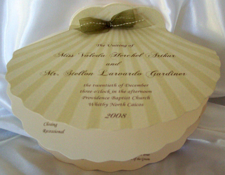 seashell shaped invitations