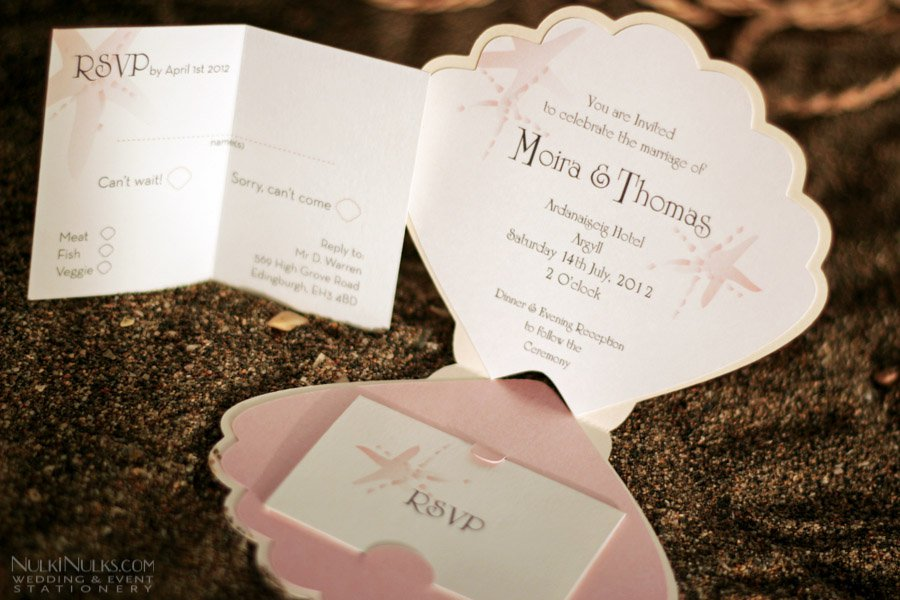 Shell Shaped Invitations