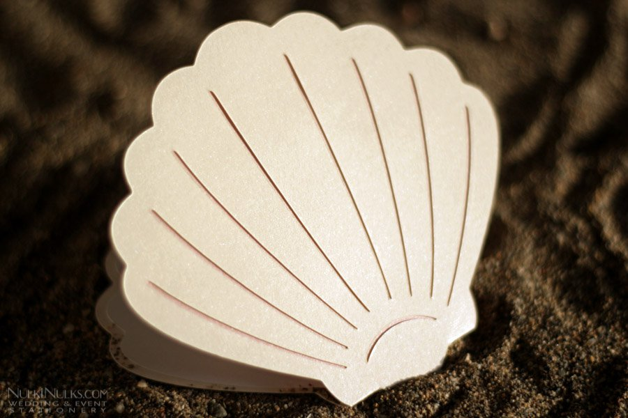 Shell Shaped Wedding Invitations