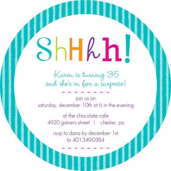 Shhh Birthday Party Invitation Templates