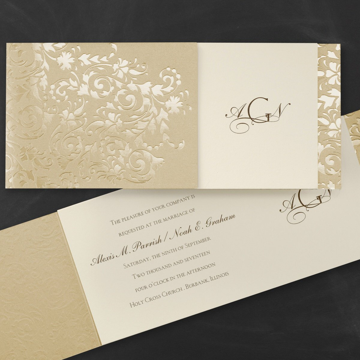 Simple But Elegant Wedding Invitations Carlson Craft