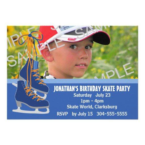 Skating Party Invitations Boy