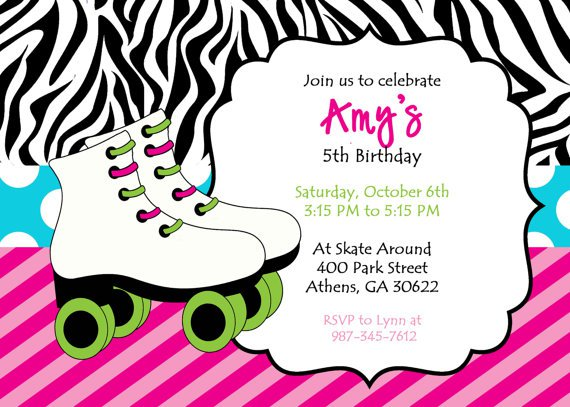Skating Party Invitations Printable