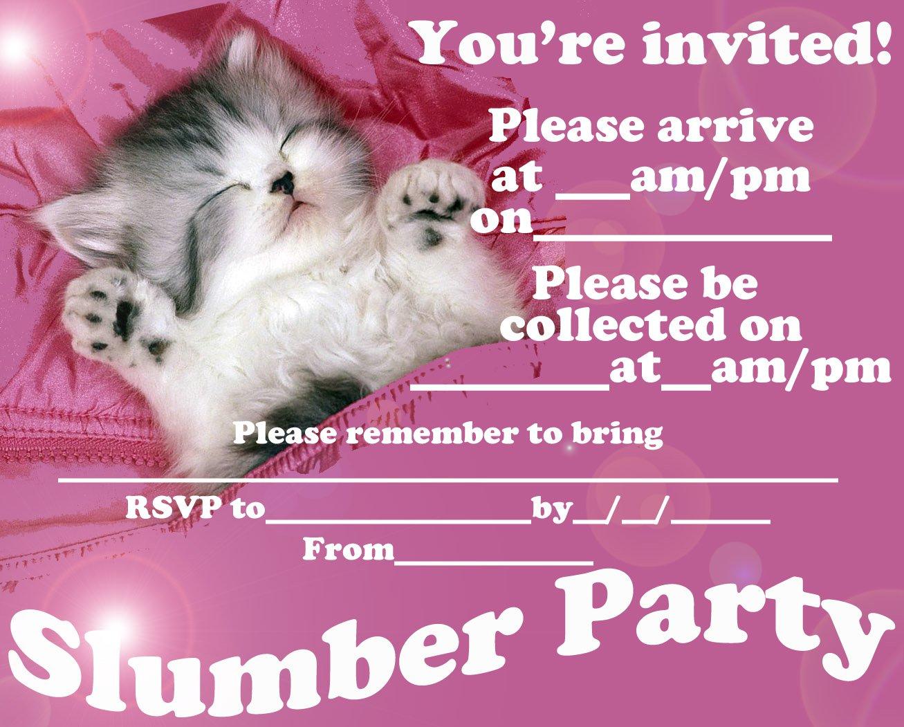 Sleepover Party Invitations Printable