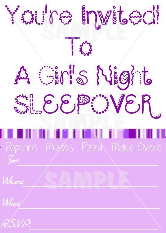 Slumber Party Invitations Blank