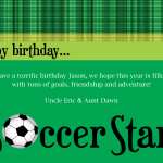 soccer birthday cards to print, Birthday card