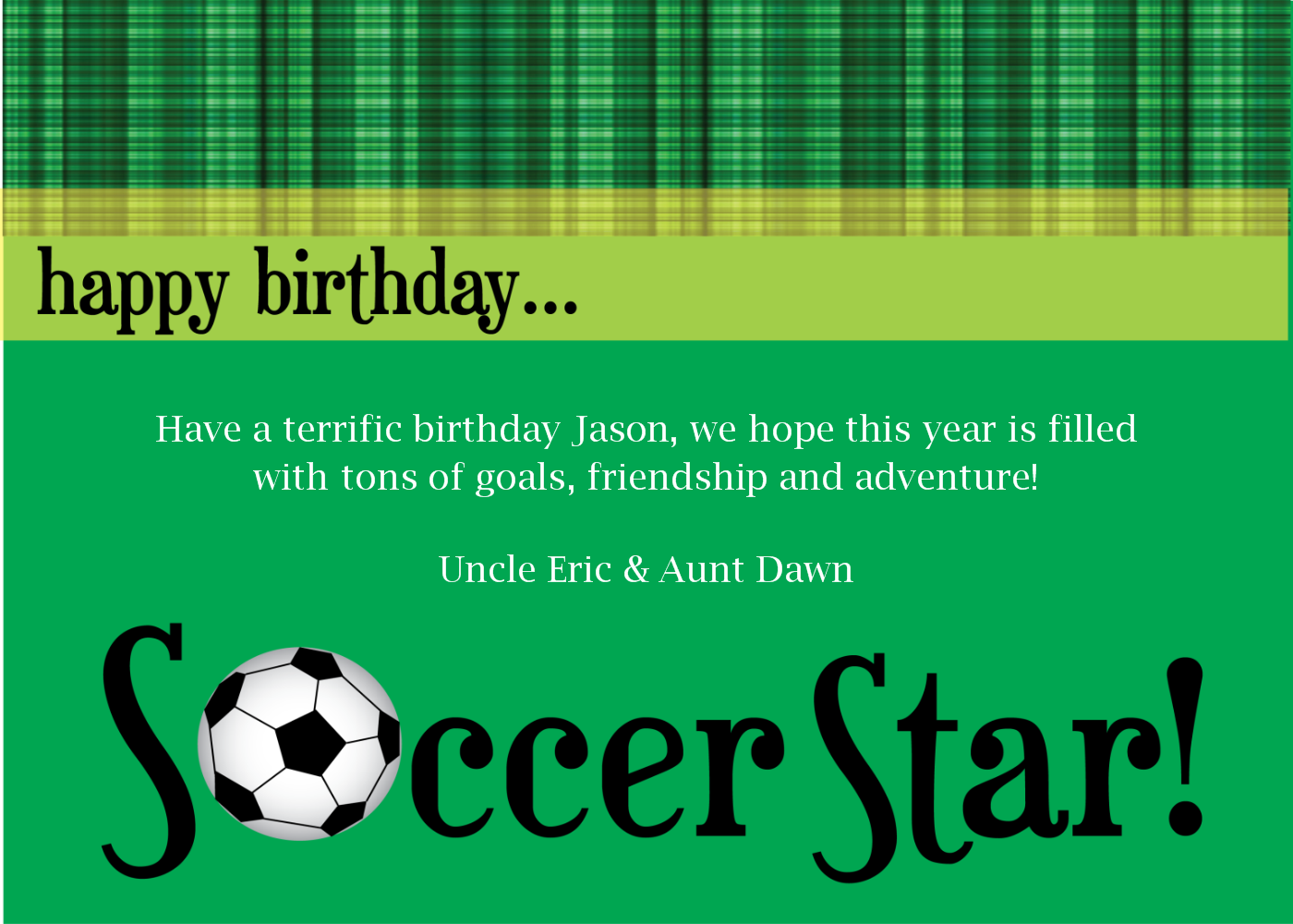 Soccer Birthday Cards Printable