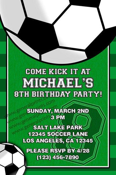 Soccer Birthday Party Invitation Wording