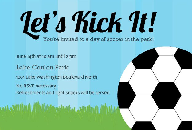 Soccer Party Invitations Templates Free