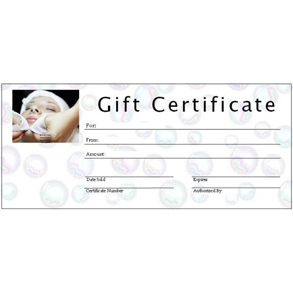 Spa Gift Certificate Templates Free