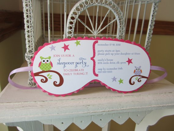 Spa Sleepover Invitations