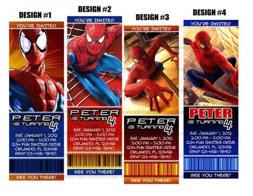 Spider-man Birthday Party Invitations Printable
