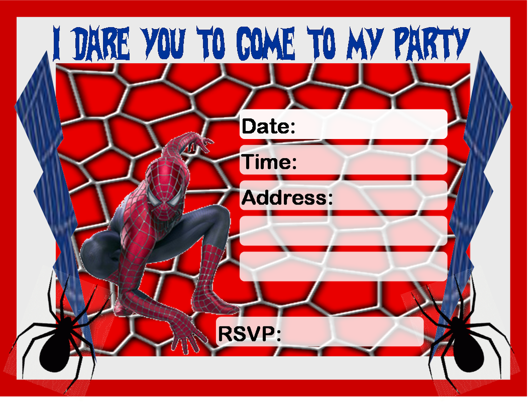 Spider-man Invitations Free Download