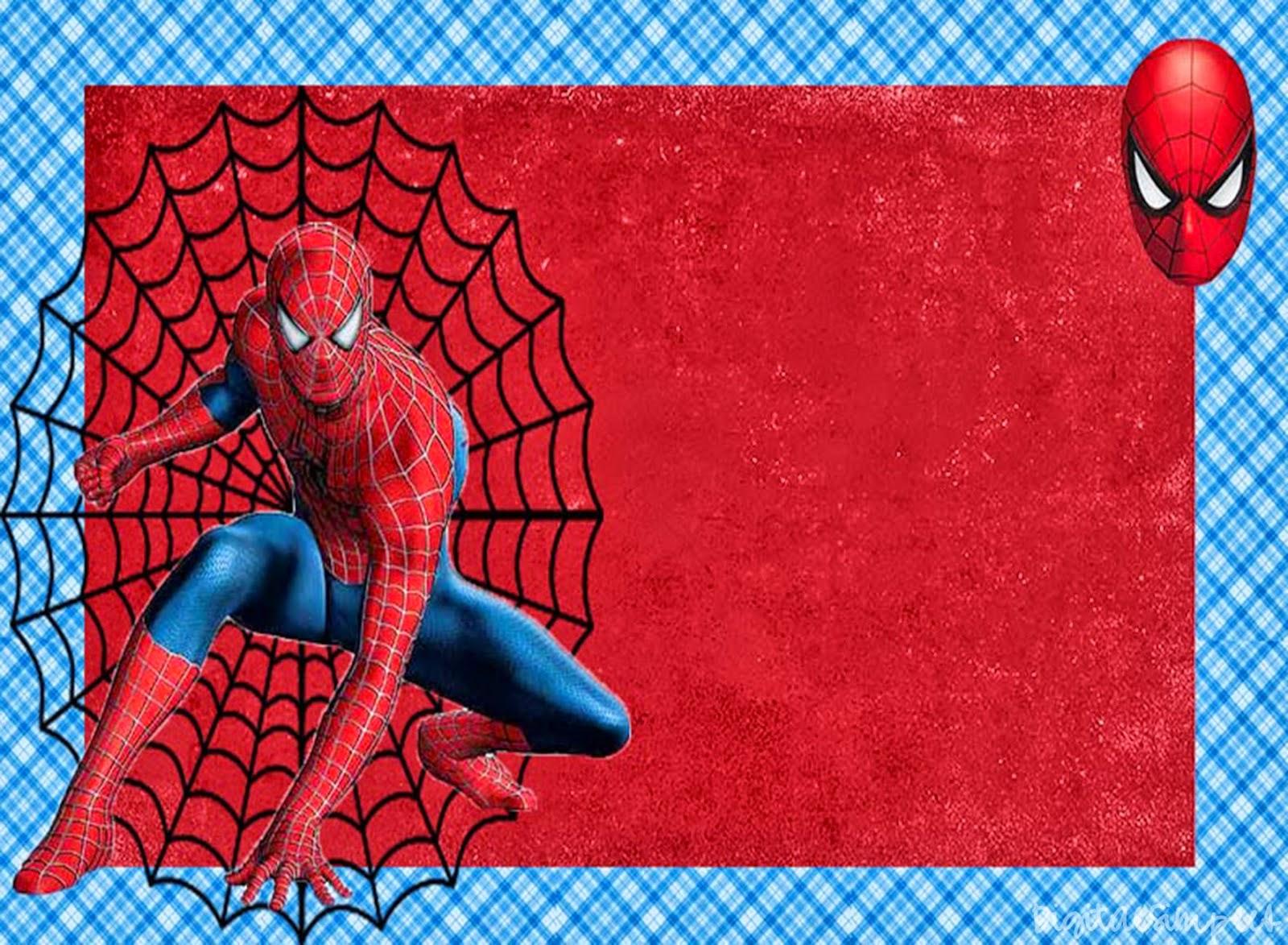 Spiderman Invitations Free Download