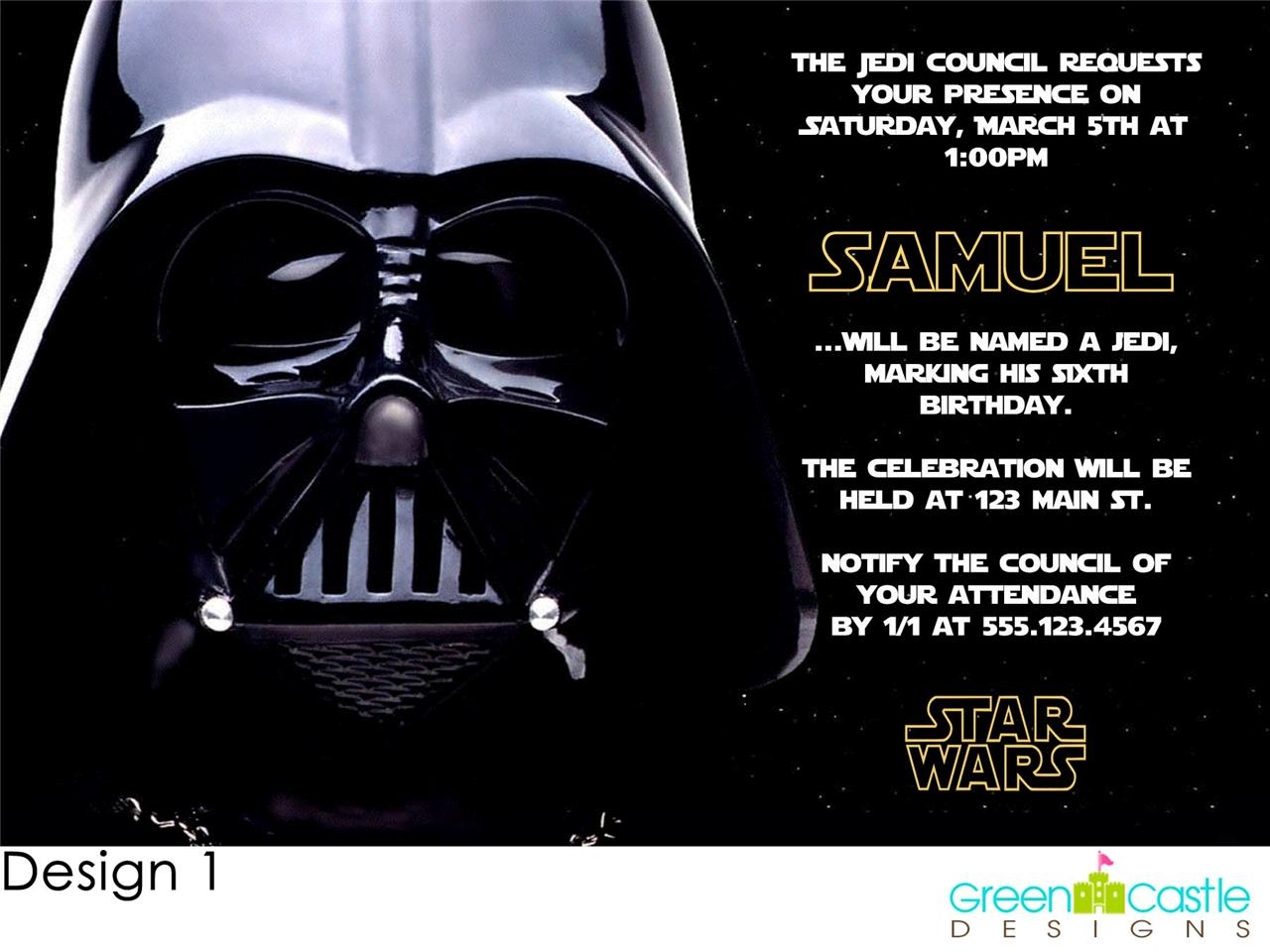 Star Wars Birthday Party Invitations Free