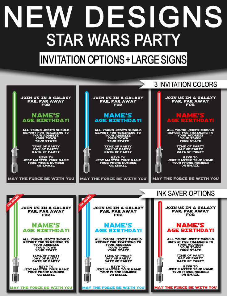 Star Wars Birthday Signs