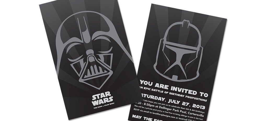 Star Wars Electronic Invitations