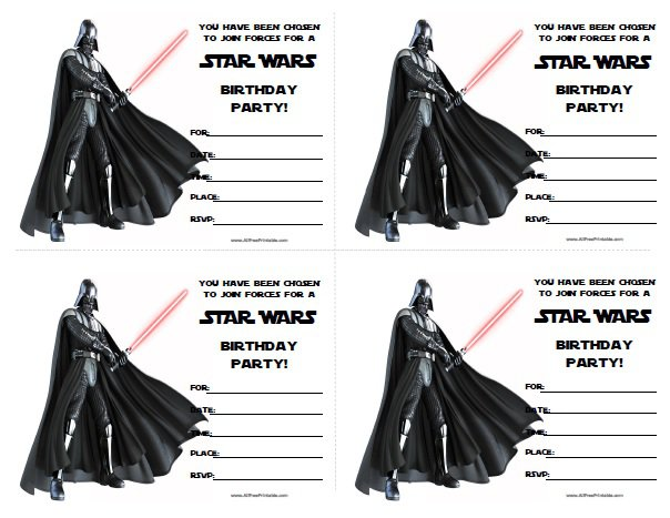 Star Wars Free Printable Party Invitations