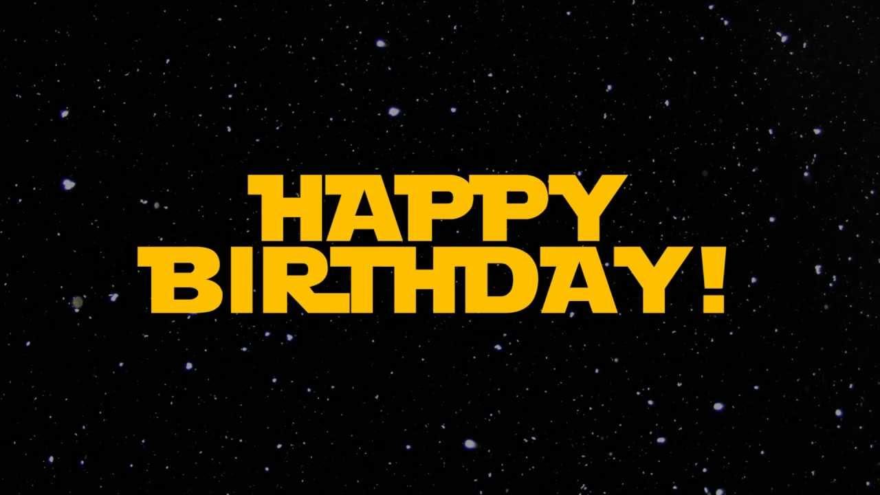 Star Wars Happy Birthday Greeting