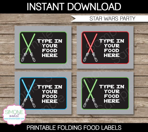 Star Wars Label Templates