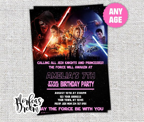 Star Wars Printable Invitation Cards