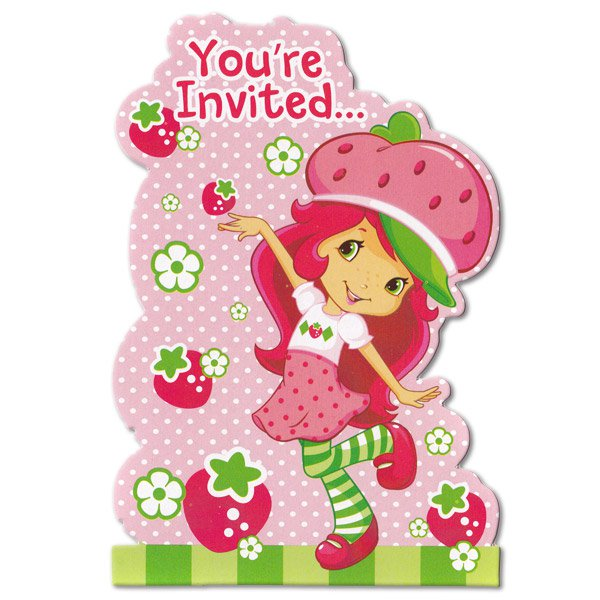 Strawberry shortcake birthday invitations filmwisefo Gallery
