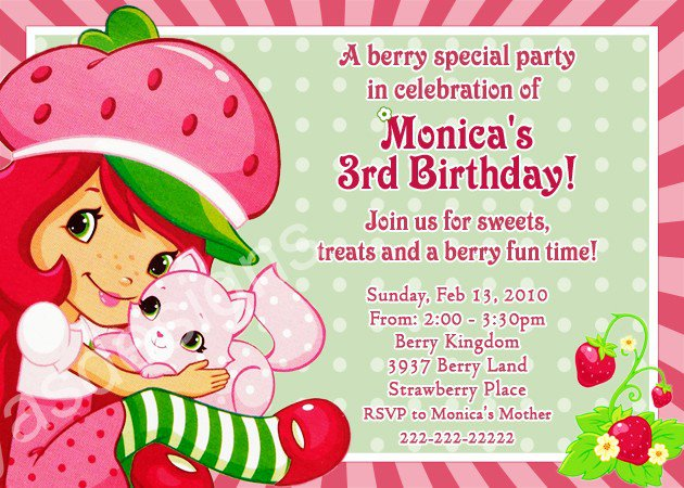 Strawberry shortcake invitation template diabetesmangfo strawberry shortcake birthday party invitations printable invitation templates filmwisefo Gallery