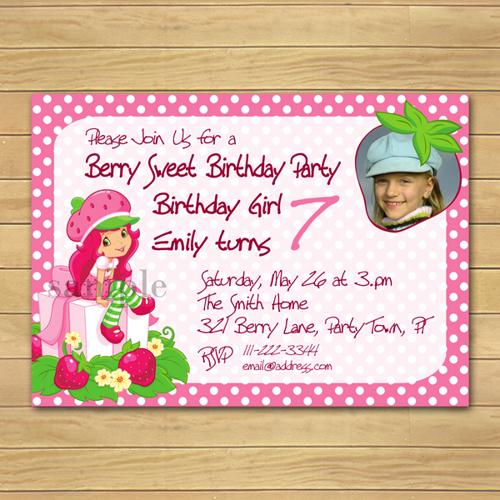 Strawberry Shortcake Invitation Border