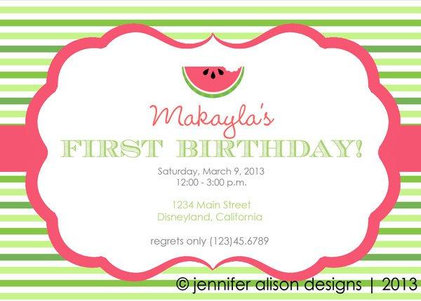 Summer Watermelon Party Invitation