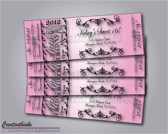 Sweet 16 Printable Birthday Invitations Free