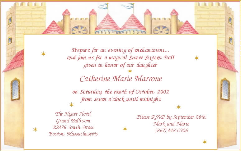 Sweet Sixteen Invitation Wording Samples