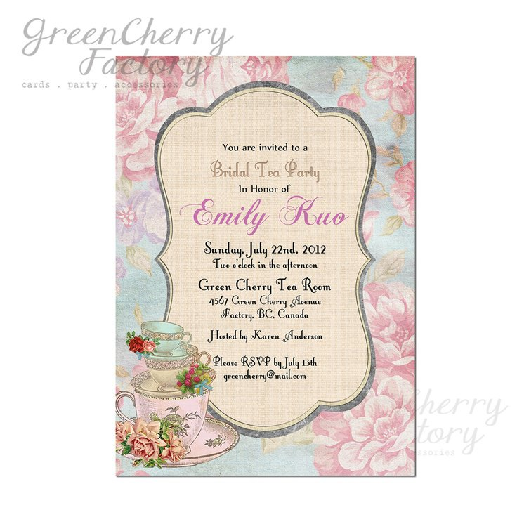 Tea Cup Bridal Shower Invitations