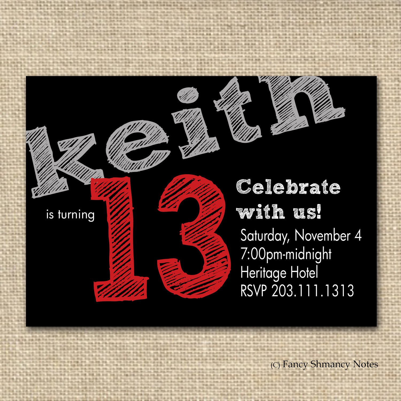 Teen Birthday Party Invitations Free