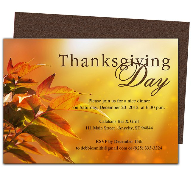 Invitation templates thanksgiving invitation templates stopboris Gallery