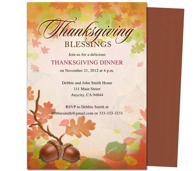Thanksgiving Invitation Templates Diabetesmanginfo - Thanksgiving party invitation templates