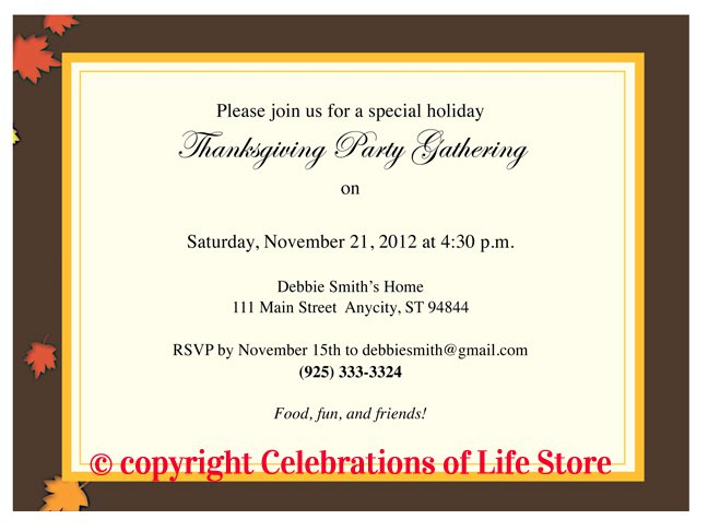 Thanksgivingpartyinvitationtemplatesjpg - Thanksgiving party invitation templates