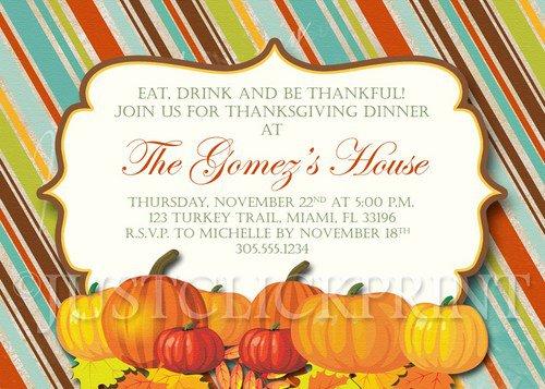 Thanksgiving Printable Invitation Templates