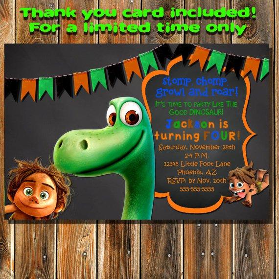 The Good Dinosaur Invitation Card