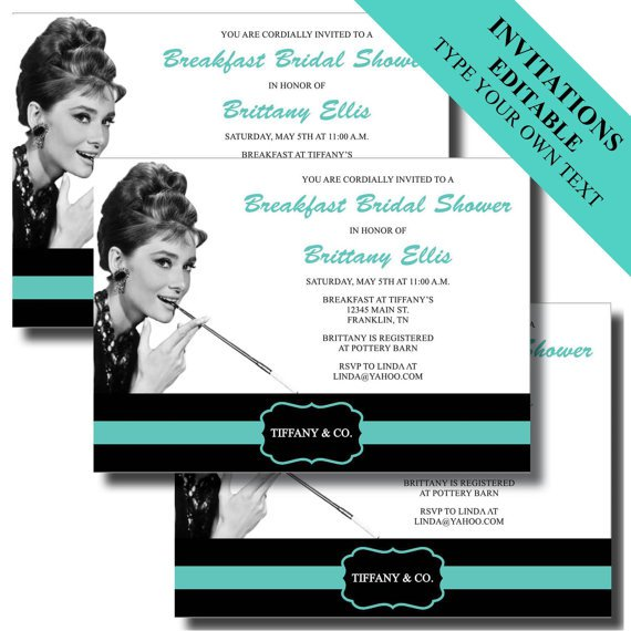 Tiffany And Co Party Invitations Printable