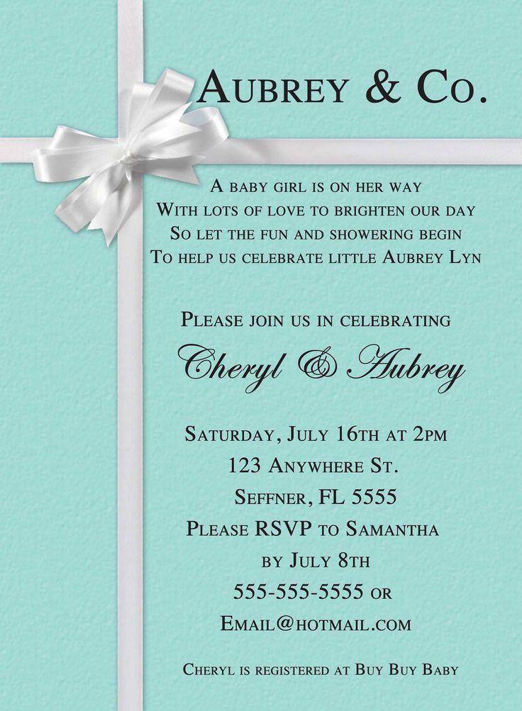Tiffany&co Party Invitations