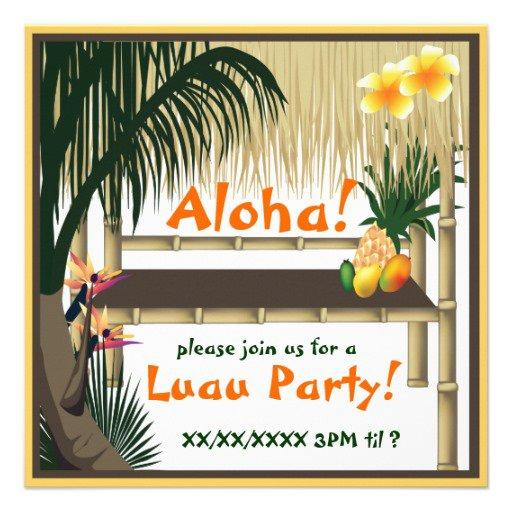 Tiki Hut Invitations
