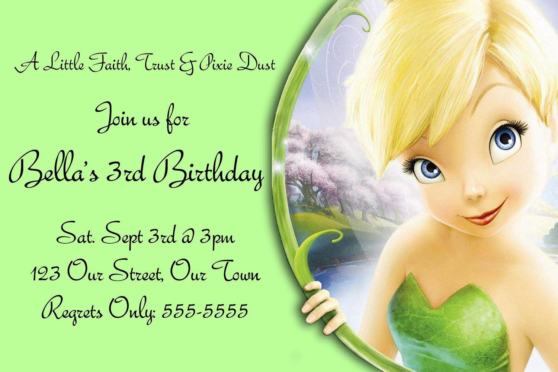 Tinkerbell Birthday Invitations Free Download