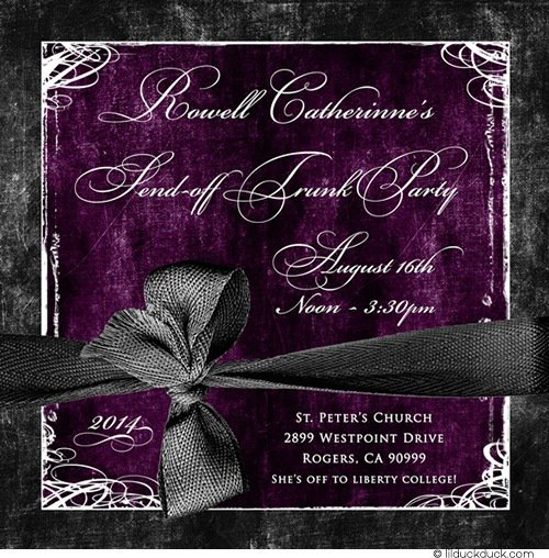 Trunk Party Invitations Wording